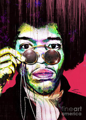 The Color Of Rock - Jimi Hendrix Series Print by Reggie Duffie