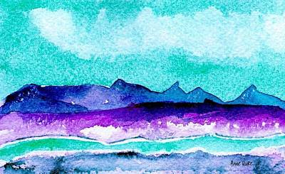 Art Print featuring the painting The Colorado River by Anne Duke