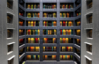 Japan Wall Art - Photograph - The Colored Doors by Marc Pelissier