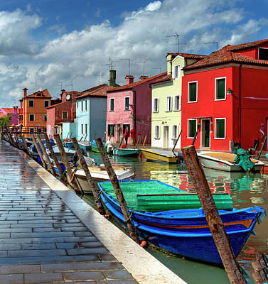 Burano Photograph - The Colored Homes Of Burano by Photo Art By Mandy