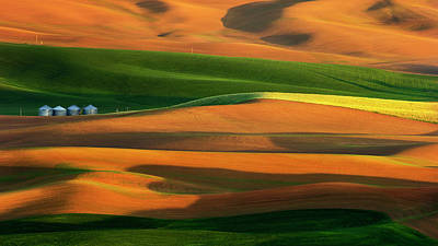 Silo Photograph - The Colorful Land by Phillip Chang