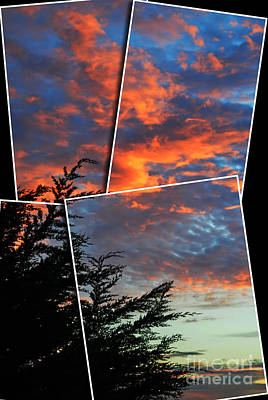 Photograph - The Colorful Sky Over Pacifica Ca Altered Version by Jim Fitzpatrick