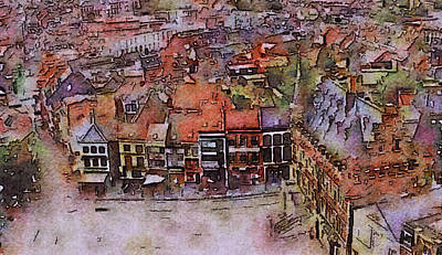 Vintage Uk Posters - The Colors of Ghent by Susan Maxwell Schmidt