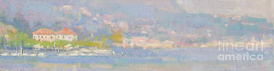 Lake Como Painting - The Colors Of Grey by Jerry Fresia