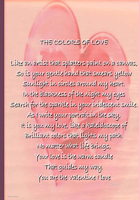 Photograph - The Colors Of Love Card by Debra     Vatalaro