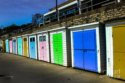 Photograph - The Cabanas Of Lyme Regis Beach by Rene Triay Photography