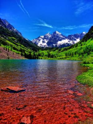 The Colors Of Maroon Bells In Summer Art Print by Dan Sproul