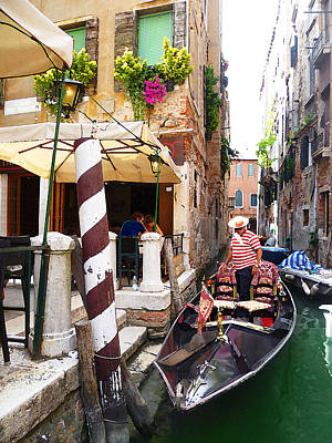 Channel Photograph - The Colors Of Venice by Irina Sztukowski