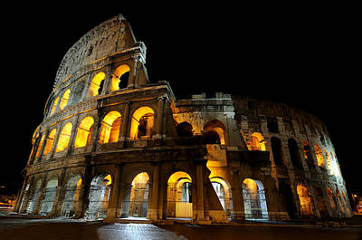 The Colosseum At Night Art Print by Jeremy Voisey