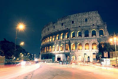 The Colosseum At Night Art Print by Matteo Colombo