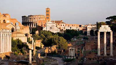 Photograph - The Colosseum Behind The Forum by Weston Westmoreland