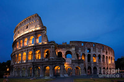 Ancient Rome Photograph - The Colosseum by David Davis