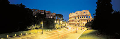Historic Ruins Photograph - The Colosseum Rome Italy by Panoramic Images