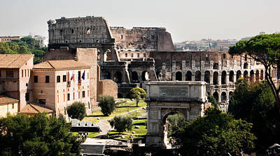Photograph - The Colosseum Through The Forum by Weston Westmoreland
