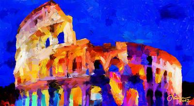 The Colosseum Tnm Art Print by Vincent DiNovici