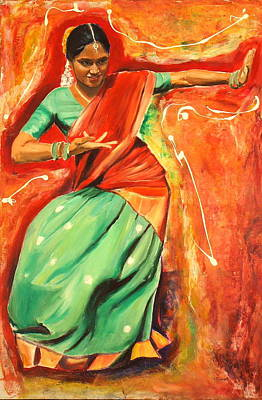 Ontario Portrait Artist Painting - The Colours Of Dance 2 by Sheila Diemert