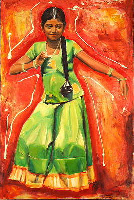 Ontario Portrait Artist Painting - The Colours Of Dance by Sheila Diemert