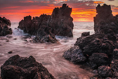 Photograph - The Colours Of Sunrise Behind Coastal by Carl Johnson
