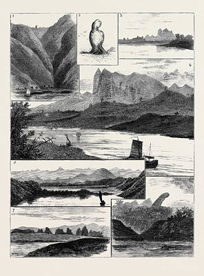 White River Scene Drawing - The Colquhoun-wahab Expedition Through China by Chinese School