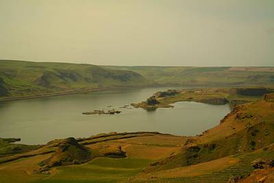 Birds Rights Managed Images - The Columbia River From Maryhill Royalty-Free Image by Jeff Swan