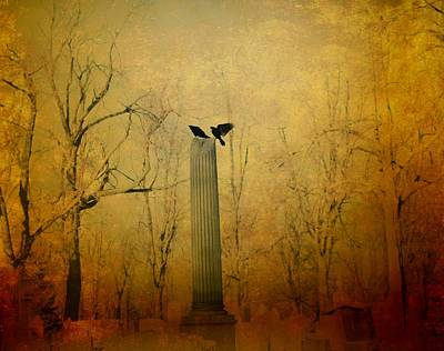 Two Crows Photograph - The Column by Gothicrow Images