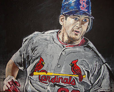 Majorleaguebaseball Painting - The Come Back Kid by Jen Sparks