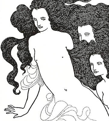 Stark Drawing - The Comedy Of The Rhinegold by Aubrey Beardsley