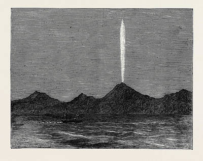 The Comet In The Southern Hemisphere As Viewed Art Print by English School