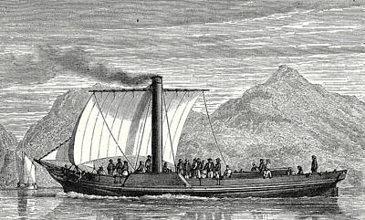 Steamboat Drawing - The Comet The First English Steamboat Built By Henry Bell by Bell, Henry (1767-1830), Scottish