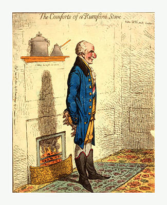 The Comforts Of A Rumford Stove Vide Dr. G-rn-ts Lectures Art Print