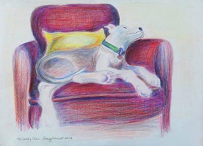 Drawing - The Comfy Chair by Ginny Schmidt