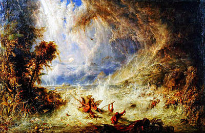 The Deluge Painting - The Commencement Of The Deluge by Celestial Images