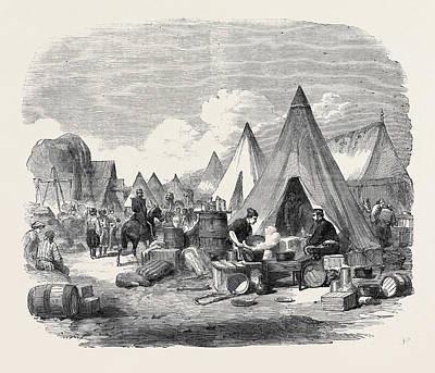 3rd Division Drawing - The Commissariat Camp In The Crimea by English School