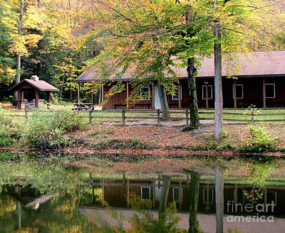 Photograph - The Commissioners Cabin In Autumn by Rose Santuci-Sofranko