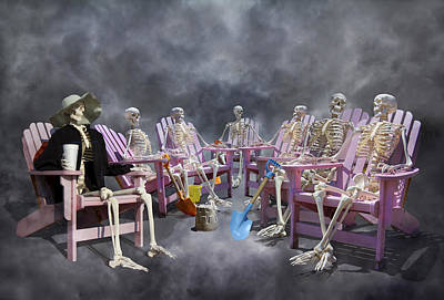 Anatomy Digital Art - The Committee Reaches Enlightenment by Betsy Knapp