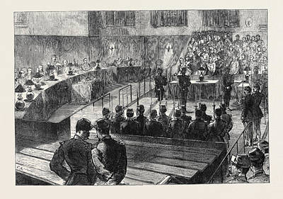 Clear Drawing - The Communist Trials At Versailles The Court Cleared by English School