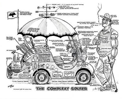 Drawing - The Compleat Golfer by Eldon Frye