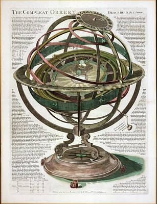 Orrery Photograph - The Compleat Orrery by Museum Of The History Of Science/oxford University Images