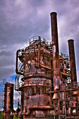 Compressor Photograph - The Compressor Building At Gasworks Park - Seattle Washington by David Patterson