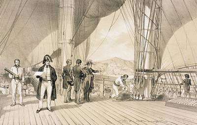 North Drawing - The Comte De Bourmont And Admiral by Antoine Leon Morel-Fatio