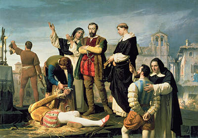The Comuneros Juan De Padilla 1490-1521 Juan Bravo And Francisco Maldonado At The Scaffold, 1860 Art Print by Antonio Gisbert