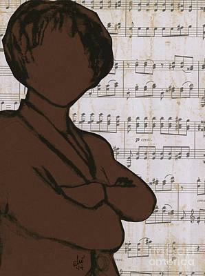 Drawing - The Concert Critic by Angela L Walker