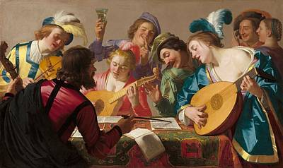 Netherlands Painting - The Concert by Gerard van Honthorst