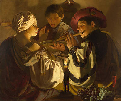 Painting - The Concert by Hendrick ter Brugghen