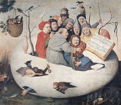 Concert Photograph - The Concert In The Egg Oil On Panel by Hieronymus Bosch