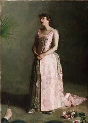 The Concert Singer Thomas Eakins Painting - The Concert Singer by Thomas Eakins