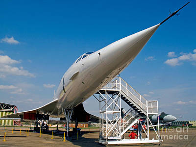 Passenger Plane Photograph - The Concorde by Tim Holt
