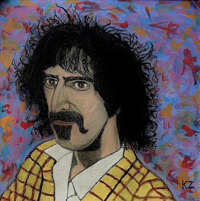 Painting - The Conductor Frank Zappa by Ken Zabel
