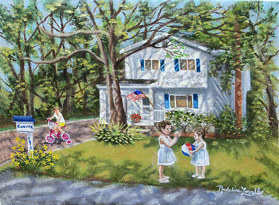 Painting - The Confer Home by Madeline  Lovallo