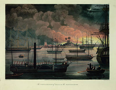 The Conflagration Of Dalla Art Print by British Library